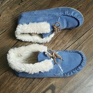 Shoes - Blue Suede Women's Corine Boots Moccasins 11